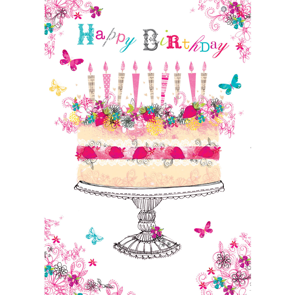 Foil Birthday Cake Birthday Card by British Heart Foundation – Birthday Cakes Cards