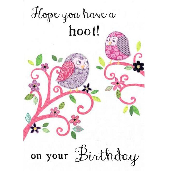 Hope You Have A Hoot Birthday Card By Bhf