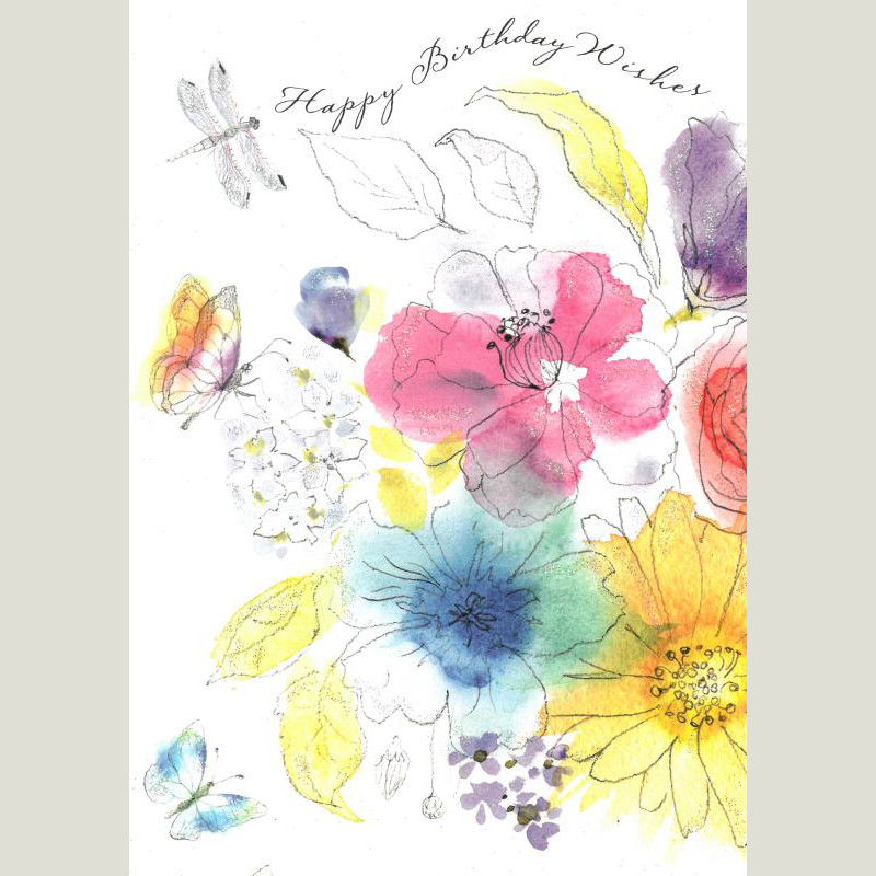 Charity birthday cards funny and quirky birthday greetings cards watercolour flowers birthday card watercolour flowers birthday card bookmarktalkfo Choice Image