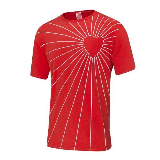 Heart Radar T-Shirt, Men's, Red