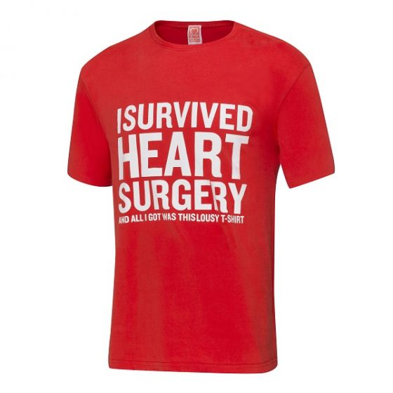 I Survived Heart Surgery T-Shirt, Men's, Red