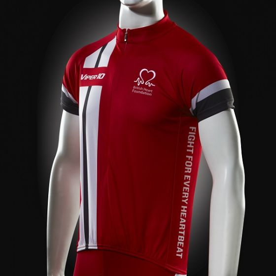 Cycling Jersey, Red White and Grey, Short-sleeve, Men's