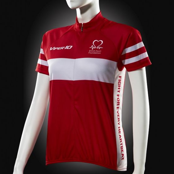 Cycling Jersey, Red and White, Short-sleeve, Women's