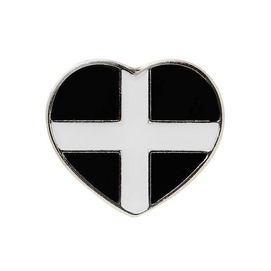 Cornish Heart Pin Badge