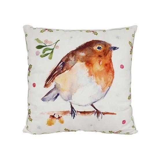 Winter Robin Cushion
