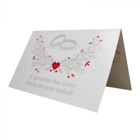 Wedding Favour Donation Place Card