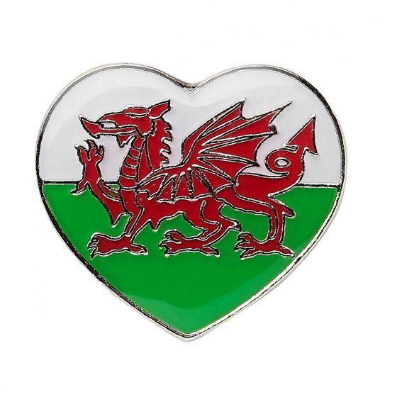 Welsh Heart Pin Badge