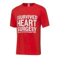 Image for I Survived Heart Surgery T-Shirt, Men's, Red