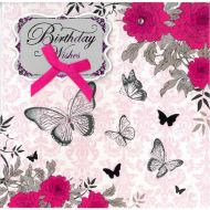 Image for Glitter Butterflies Birthday Card