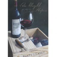 Wine on the case Welsh Birthday Card
