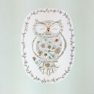 Floral Owl Greetings Card