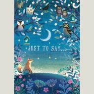 Evening Woodland Greeting Card