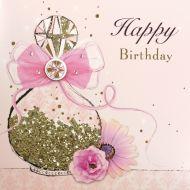 Glitter Perfume Bottle Birthday Card