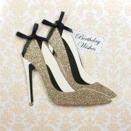 Glitter Shoes Birthday Card