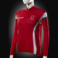 Image for Cycling Jersey, Red White Grey, Long-sleeve, Women's