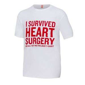 Image for I Survived Heart Surgery T-Shirt, Men's, White