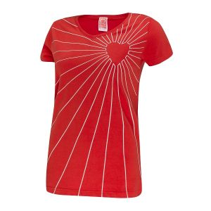 Image for Heart Radar V-Neck T-Shirt, Women's, Red