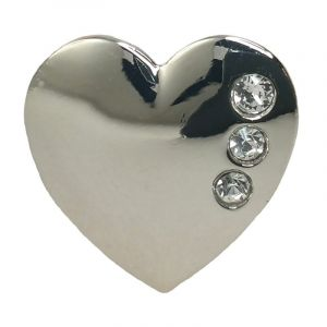 Swarovski Silver-finish Pin Badge