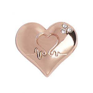 Rose Gold Heart Pin Badge