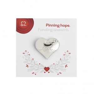 Wedding Favour Silver Heart Pin Badge