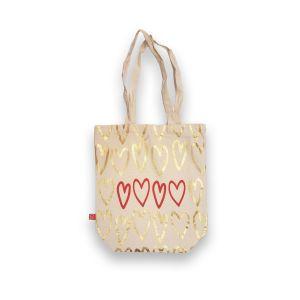 Canvas Heart Print Bag