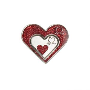 Share The Love Glitter Badge