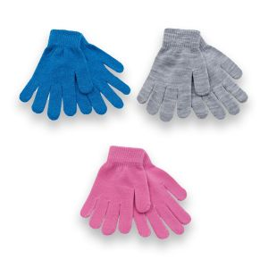 Girls 3pk Mixed Magic Gloves