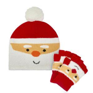 Kids Santa Hat & Glove Set