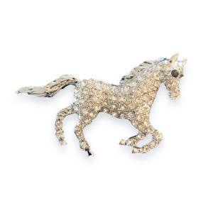 Diamante Horse Brooch