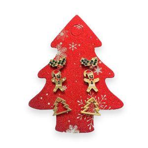 Novelty Christmas Earrings - 3 pk