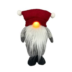 Light Up Nose Gnome Red Hat
