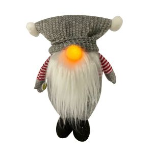 Light Up Nose Gnome Grey Hat