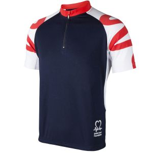 Image for Women's BHF Cycling Top: Navy Red and White