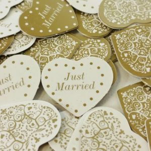 Vintage Romance Ivory and Gold Wedding Table Confetti - Contains 10 packs of Confetti