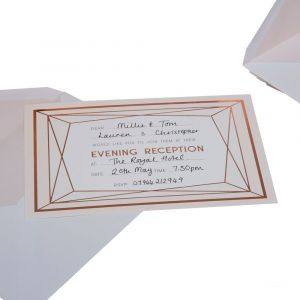Geo Blush Pack of 10 Evening Invites with Envelopes