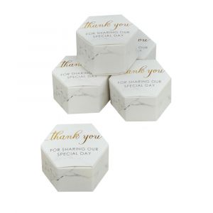Scripted Marble Pack of 10 Favour Boxes