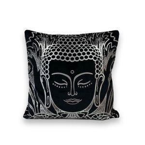 Silver Foil Buddah Cushion