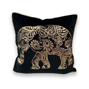 Gold Foil Elephant Cushion