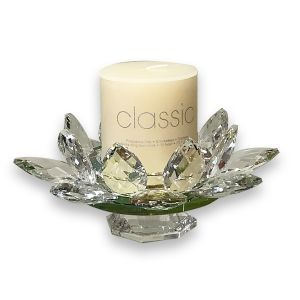 Lotus Glass Candle Holder