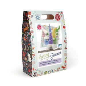 The Crafty Kit Company Spring Gnomes Needle Felting Kit