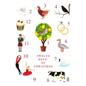 12 Days of Christmas Cards
