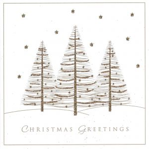 Glitter Trees Christmas Cards