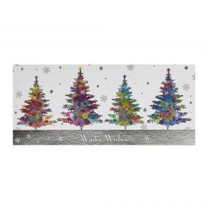 Sparkly Trees Christmas Cards flat