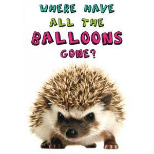 Hedgehog Balloons Birthday Card