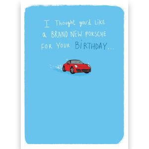 Birthday Porsche Tool Kit Card