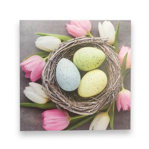 Pastel Eggs & Tulips Card
