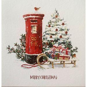 Sleigh and Postbox Christmas Cards