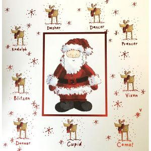 Santa and Reindeer Christmas Cards