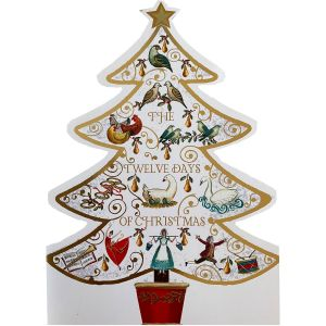 12 Days Cut Out Tree Christmas Cards