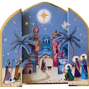 3D Kings and Shepherds Christmas Cards